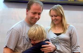 Крещение нашего сына в Киеве отмечали многие христиане