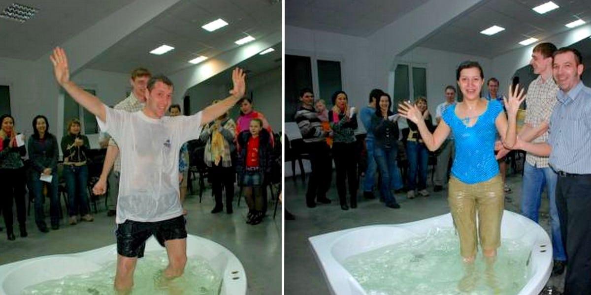 В новосибирской церкви крестилась семейная пара
