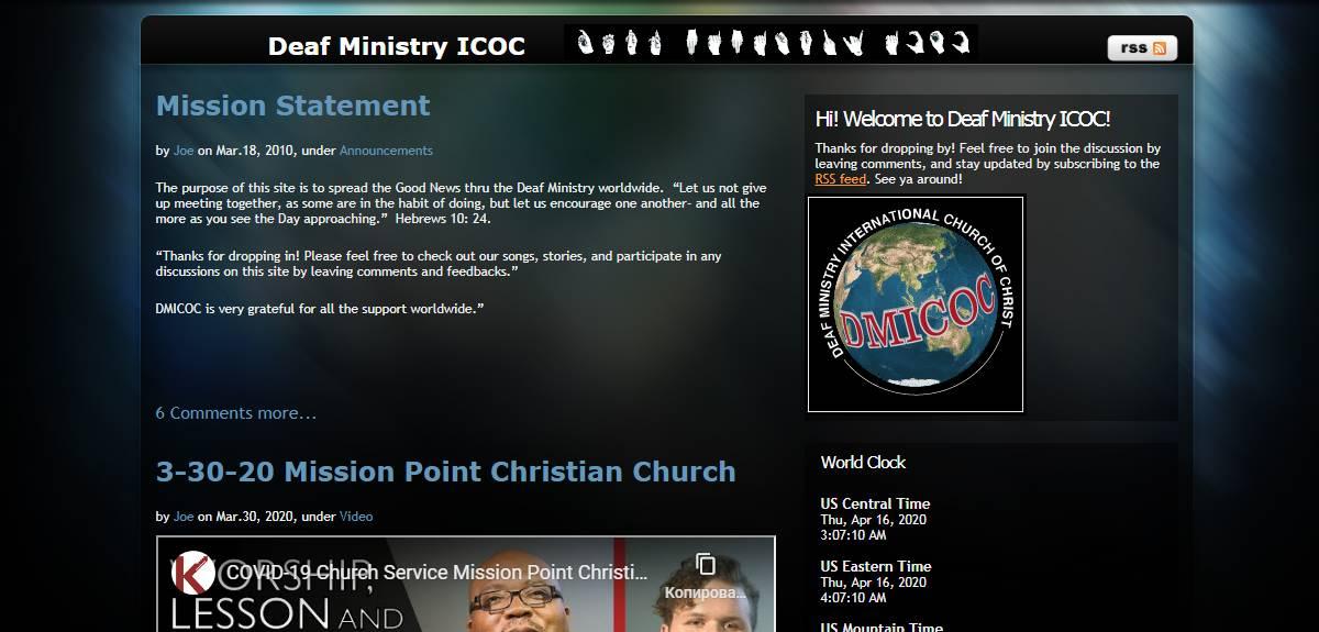 Сайт церквей Христа для общения глухих христиан со всего мира