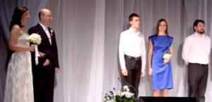Свадьба в московской церкви Христа: венчание Александра и Светлатны