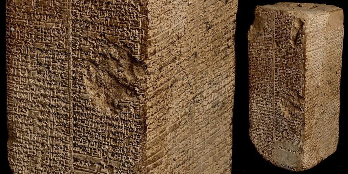 Призма Вельда-Бланделла: упоминание потопа и списки царей