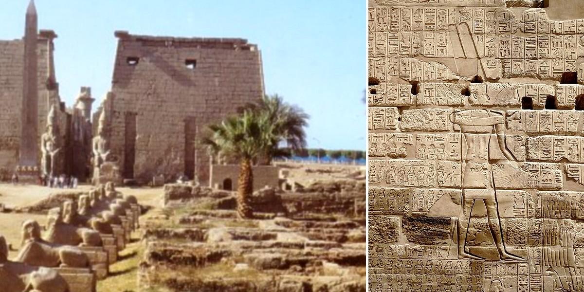 Захват Иерусалима фараоном Сусакимом, Египетский храмовый комплекс