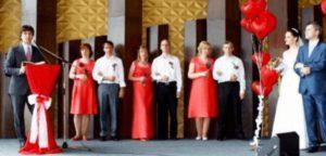 Венчание в московской церкви Христа: свадьба Сергея и Любы