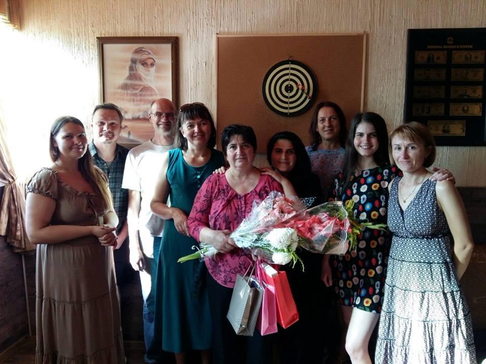 Крещение мамы Дианы в Минске - четыре поколения христиан