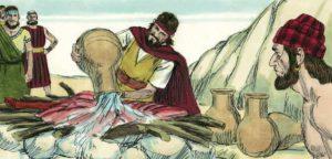 Христианская сценка: Пророк Илия и 450 пророков Ваала