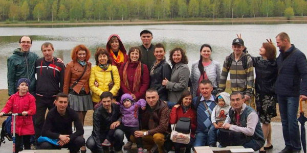 Еще одно крещение в церкви в Уфе