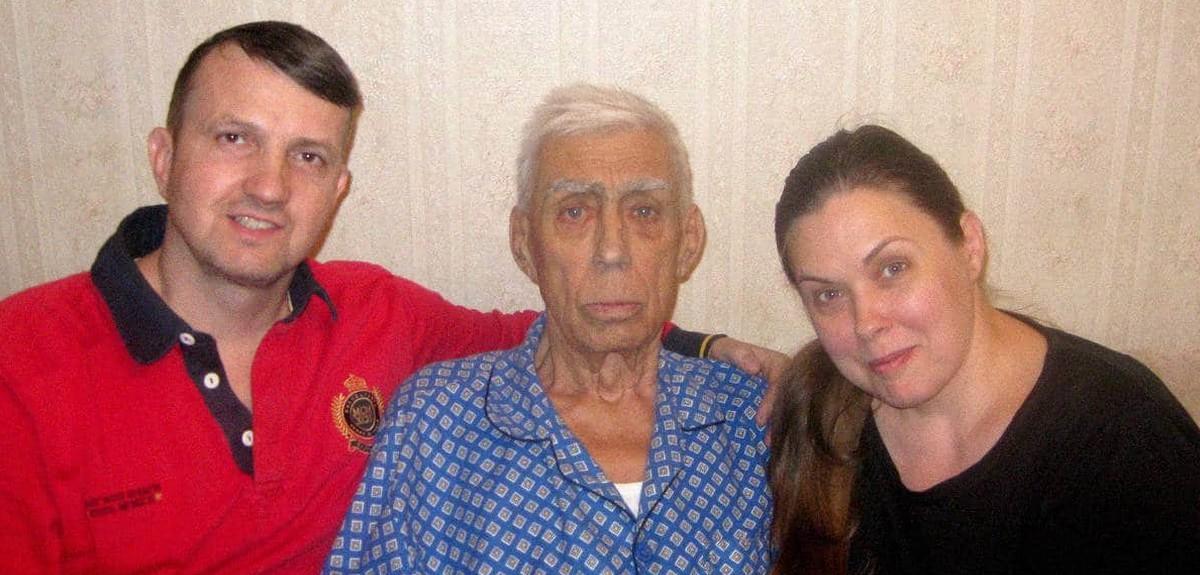 Крещение моего папы в Екатеринбурге в возрасте 81 года