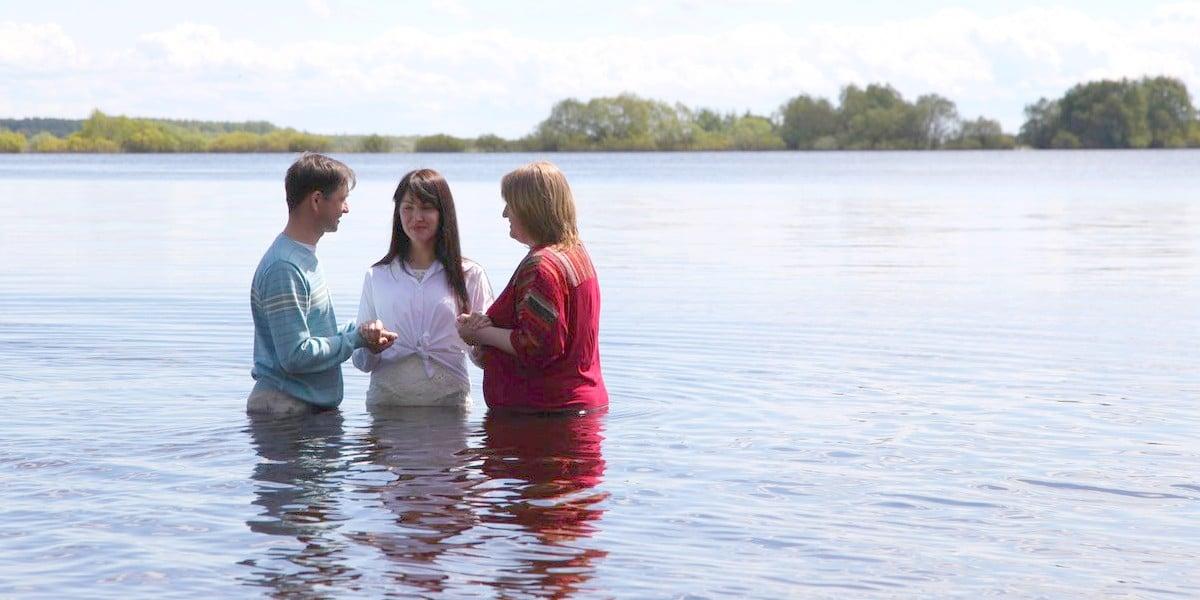 """Крещение в Великом Новгороде: """"И получите вы в дар Святого Духа..."""":"""