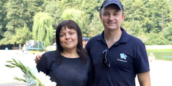 Крещение в Киеве: спасаясь от войны примирилась с Богом