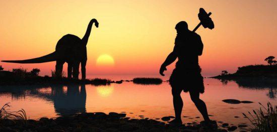 Люди и динозавры жили вместе в одну эпоху и в одно время?