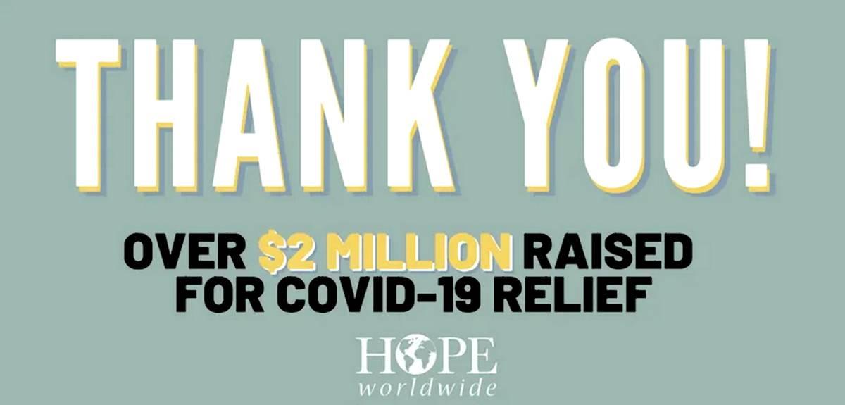 БФ «HOPE worldwide» собрал $2 млн. для пострадавших от пандемии