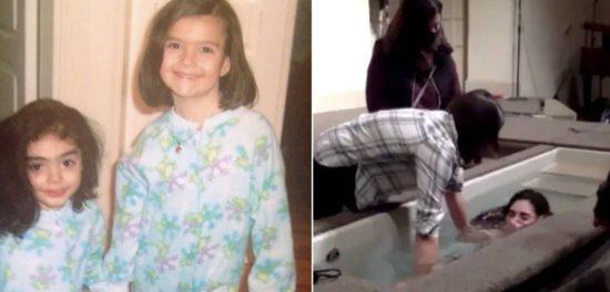 В Америке крестилась девочка-подросток, удочеренная в Армении